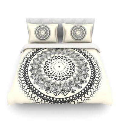 Boho Mandala Geometric by Famenxt Featherweight Duvet Cover Size: King