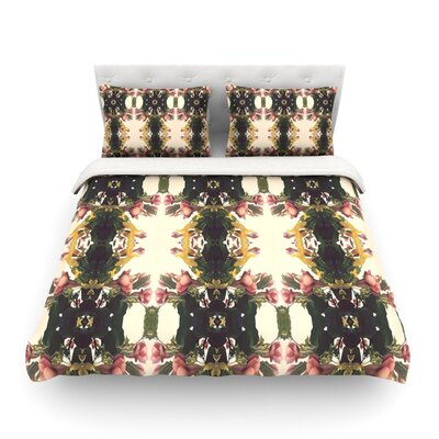 Enchanted Garden Floral by Deepti Munshaw Featherweight Duvet Cover Size: Twin
