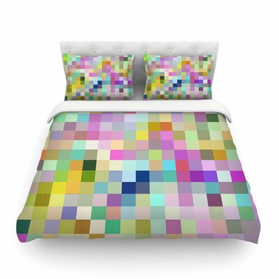 Colorful Pixels by Dawid Roc Featherweight Duvet Cover Size: King