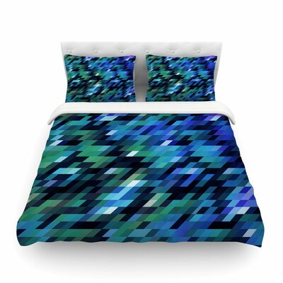 Geometric City Digital by Dawid Roc Featherweight Duvet Cover Size: Twin