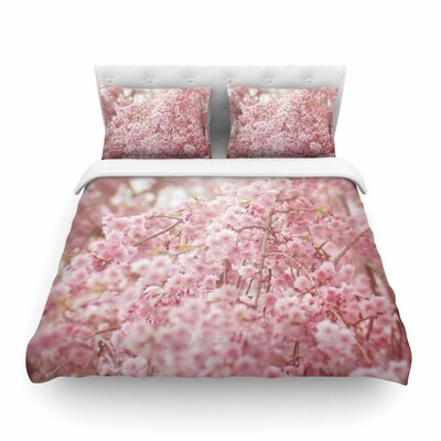 Spring Floral Digital by Debbra Obertanec Featherweight Duvet Cover Size: Twin