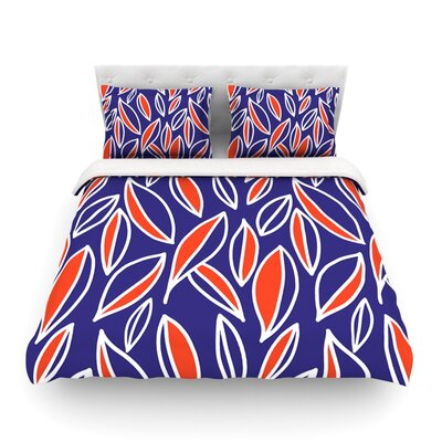 Leaving by Emine Ortega Featherweight Duvet Cover Color: Orange, Size: King