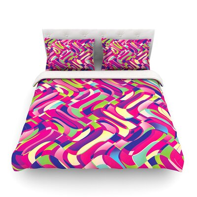 Colorful Movement Abstract by Dawid Roc Featherweight Duvet Cover Size: Full/Queen