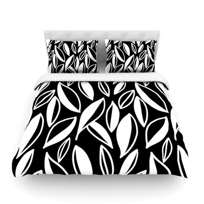 Leaving by Emine Ortega Featherweight Duvet Cover Color: Black/White, Size: King