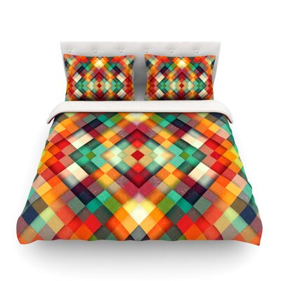 Time Between Geometric Abstract by Danny Ivan Featherweight Duvet Cover Size: Full/Queen