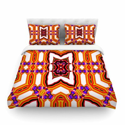 Inspired By Psychedelic Art Abstract by Dawid Roc Featherweight Duvet Cover Size: King