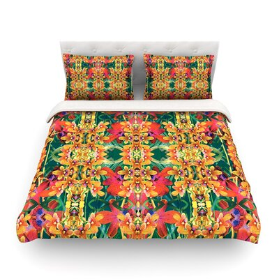 Tropical Floral by Dawid Roc Featherweight Duvet Cover Size: Full/Queen