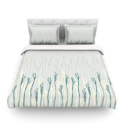 Dainty Shoots by Emma Frances Featherweight Duvet Cover Size: King
