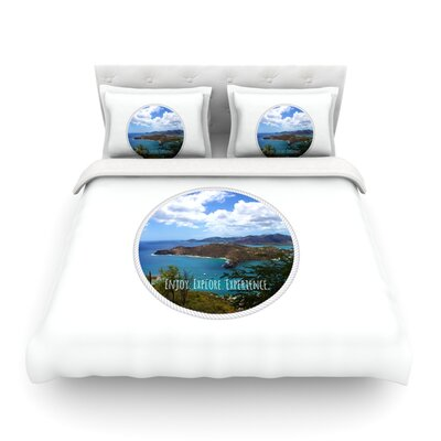 Enjoy Explore Experience Island by Deepti Munshaw Featherweight Duvet Cover Size: Full/Queen