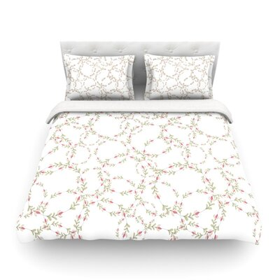 Evergreen Wreaths by Emma Frances Featherweight Duvet Cover Size: King