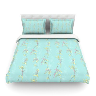 Falling Florals by Emma Frances Featherweight Duvet Cover Size: Twin