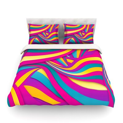 Swirls Everywhere by Danny Ivan Featherweight Duvet Cover Size: Full/Queen