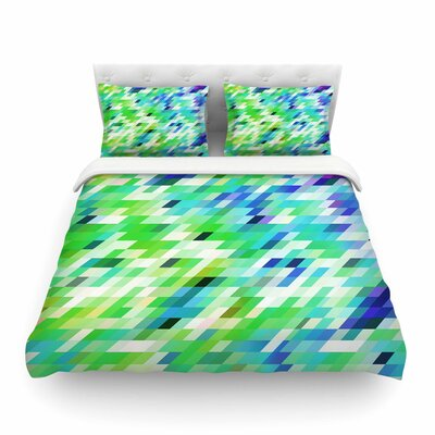 Colorful Summer Geometric Abstract by Dawid Roc Featherweight Duvet Cover Size: Twin