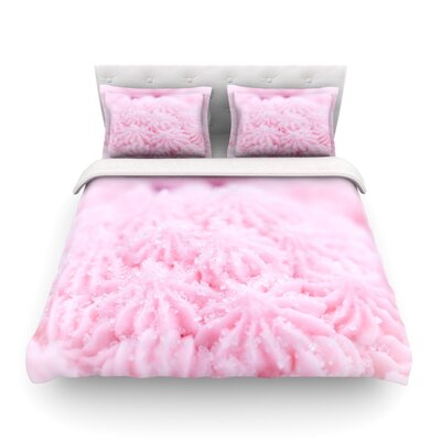 Cupcake Sparkle by Debbra Obertanec Featherweight Duvet Cover Size: Twin