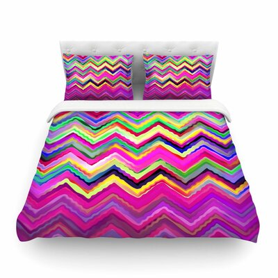 Colorful Chevron by Dawid Roc Featherweight Duvet Cover Size: King