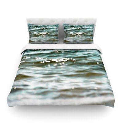 Turquoise Water by Debbra Obertanec Featherweight Duvet Cover Size: Full/Queen
