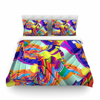 To Swim Abstract by Danny Ivan Featherweight Duvet Cover Size: Full/Queen