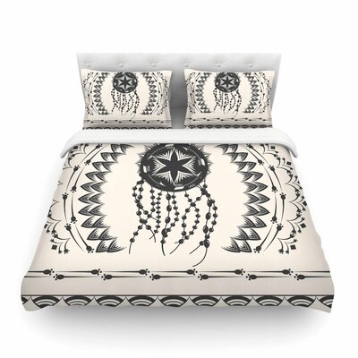 Bohemian Dream Catcher Boho by Famenxt Featherweight Duvet Cover Size: Twin