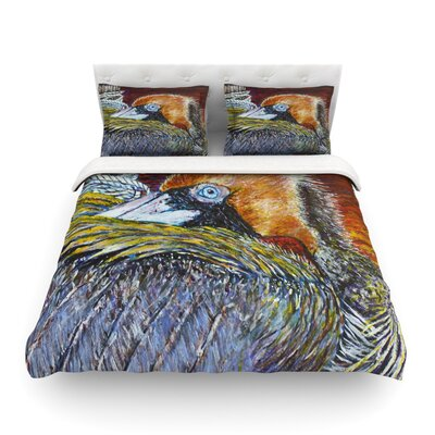 Pelican Bird by David Joyner Featherweight Duvet Cover Size: Twin
