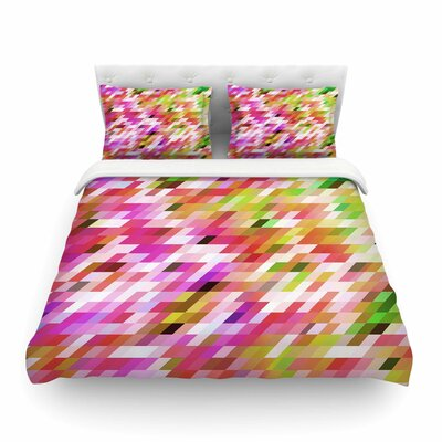 Spring Summer Geometric Digital by Dawid Roc Featherweight Duvet Cover Size: Full/Queen