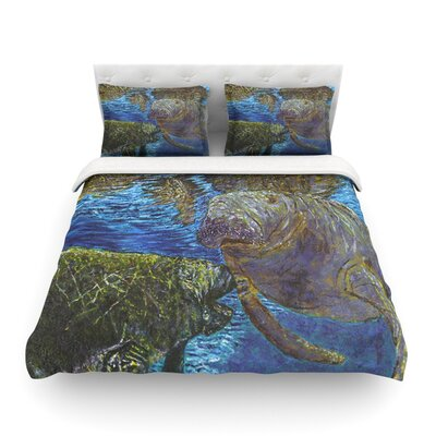Manatees by David Joyner Featherweight Duvet Cover Size: Full/Queen