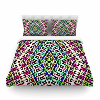 Colorful Tribal Pattern by Dawid Roc Featherweight Duvet Cover Size: King