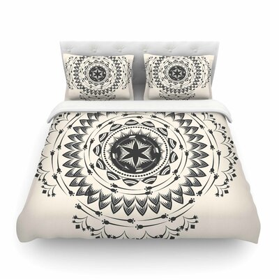 Boho Tribe Mandala by Famenxt Featherweight Duvet Cover Size: Twin