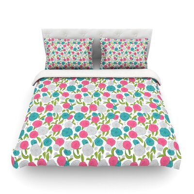 Vintage Brights by Emma Frances Featherweight Duvet Cover Size: Full/Queen
