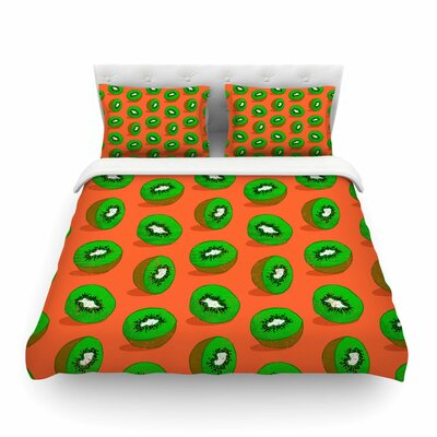 Kiwifruit by Evgenia Featherweight Duvet Cover Size: King