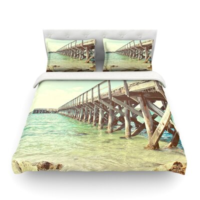 On the Pier Beach by Debbra Obertanec Featherweight Duvet Cover Size: Twin