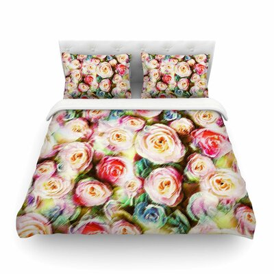 Pastel Rose Romantic Gifts Photography by Dawid Roc Featherweight Duvet Cover Size: Full/Queen