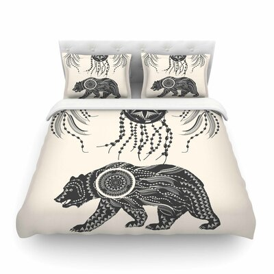 Boho Ornate Bear by Famenxt Featherweight Duvet Cover Size: Full/Queen
