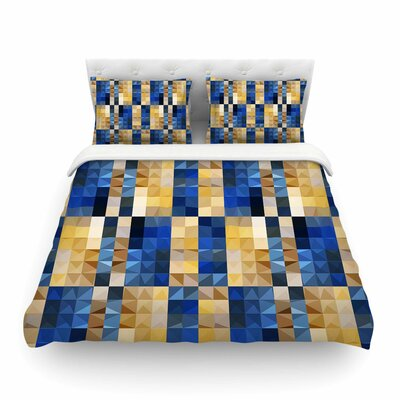 New Stripes Mosaic by Dawid Roc Featherweight Duvet Cover Size: King