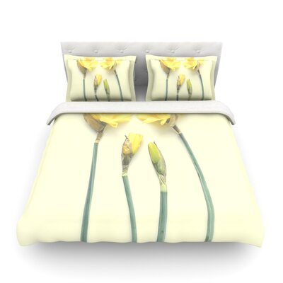 Springtime Tulip by Debbra Obertanec Featherweight Duvet Cover Size: Twin