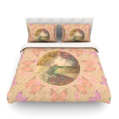 Rebirth Butterfly Circle by Deepti Munshaw Featherweight Duvet Cover Size: King