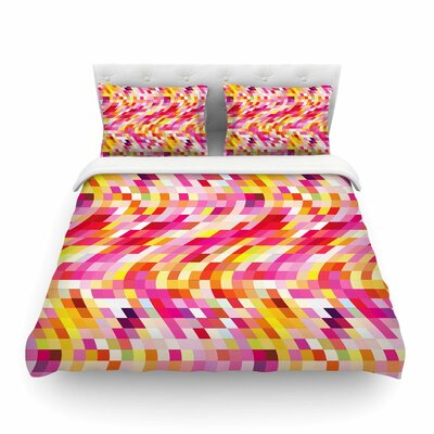 Colorful Geometric Movement by Dawid Roc Featherweight Duvet Cover Size: Full/Queen