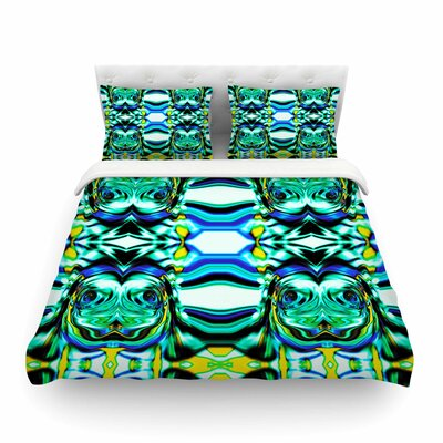 Inspired By Psychedelic Art Abstract by Dawid Roc Featherweight Duvet Cover Size: Full/Queen