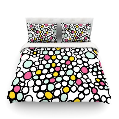 Pebbles by Emine Ortega Featherweight Duvet Cover Size: Twin, Color: Pink