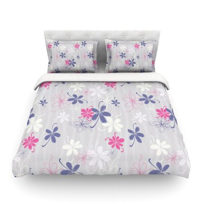 Lively Blossoms by Emma Frances Featherweight Duvet Cover Size: King