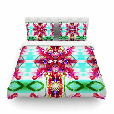 Tropical Floral Orchids by Dawid Roc Featherweight Duvet Cover Size: Full/Queen
