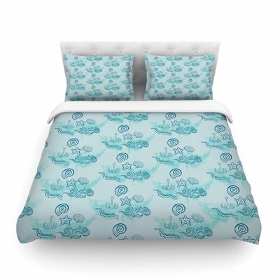 Ocean by Famenxt Featherweight Duvet Cover Size: King