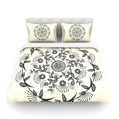 Decorative Mandala Geometric by Famenxt Featherweight Duvet Cover Size: Full/Queen
