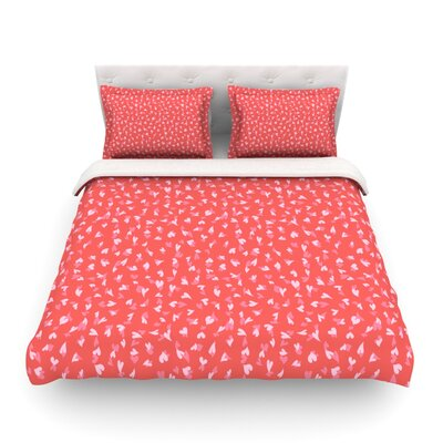 Love Confetti by Emma Frances Featherweight Duvet Cover Size: King