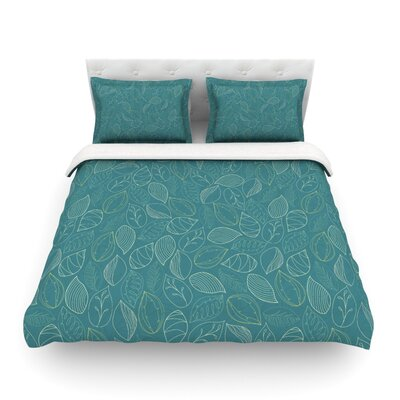 Autumn Leaves by Emma Frances Featherweight Duvet Cover Size: King
