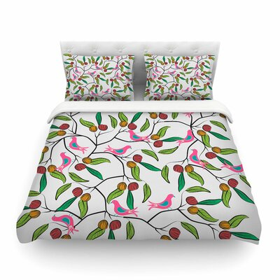 Birds World by Famenxt Featherweight Duvet Cover Size: King