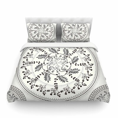 Magical Vibes Boho Madellion by Famenxt Featherweight Duvet Cover Size: King