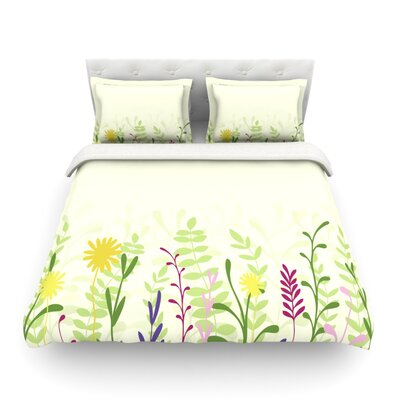 Springtime by Emma Frances Featherweight Duvet Cover Size: King