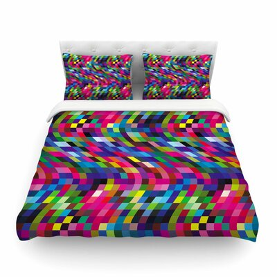 Colorful Geometric Movement by Dawid Roc Featherweight Duvet Cover Size: Twin