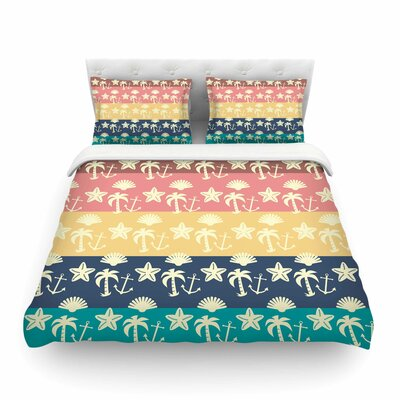 Beach and Fun by Famenxt Featherweight Duvet Cover Size: Full/Queen