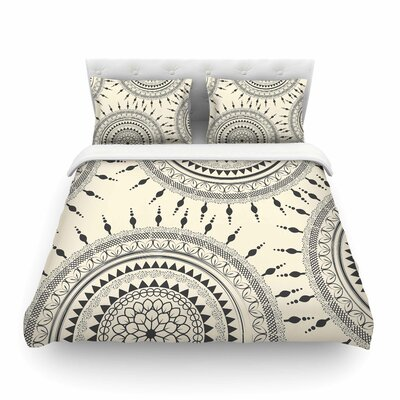 Boho Magic Mandala by Famenxt Featherweight Duvet Cover Size: King